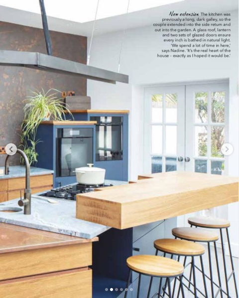 Fun family kitchen in good homes magazine