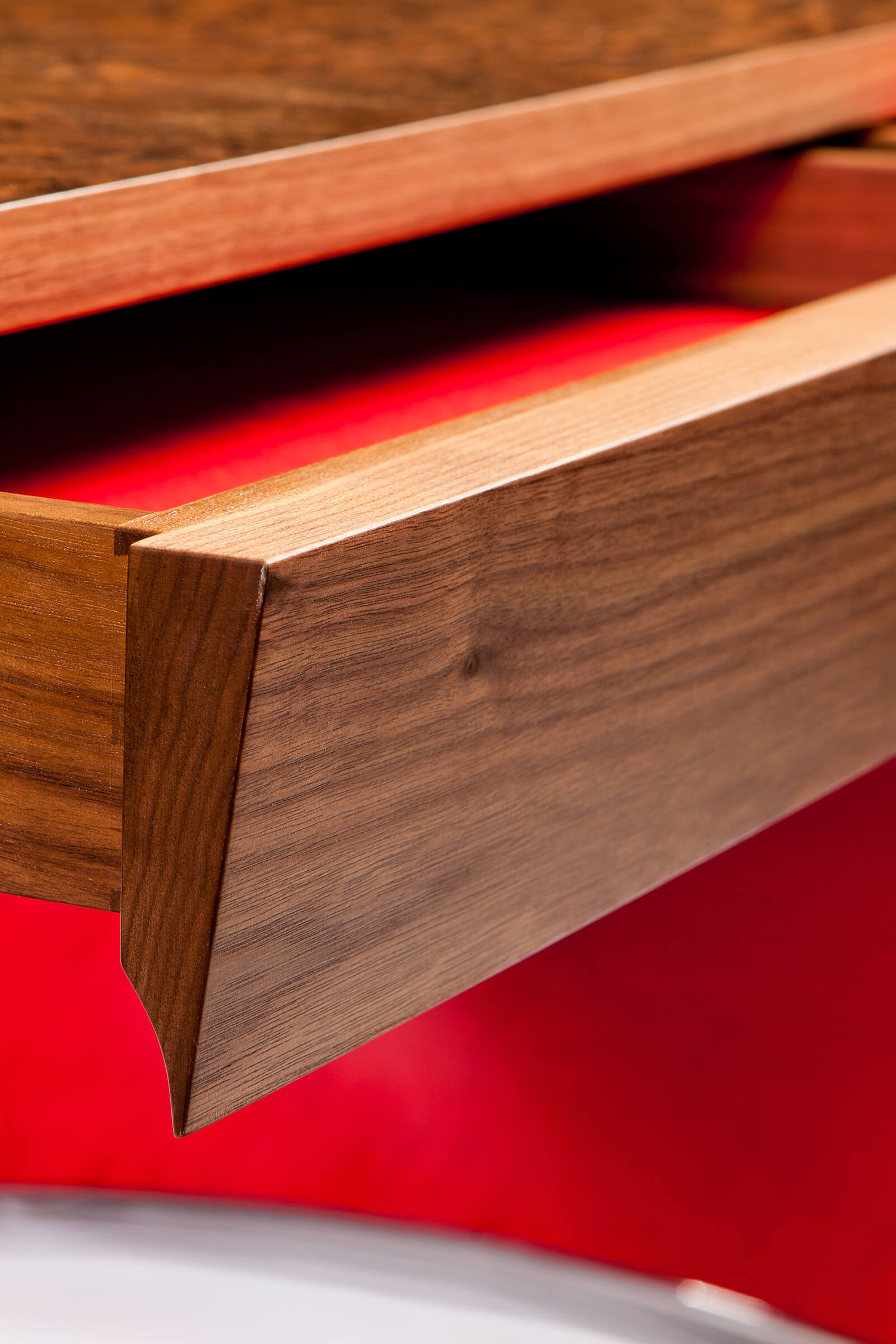 Detail of custom desk hand-made with exquisite craftsmanship