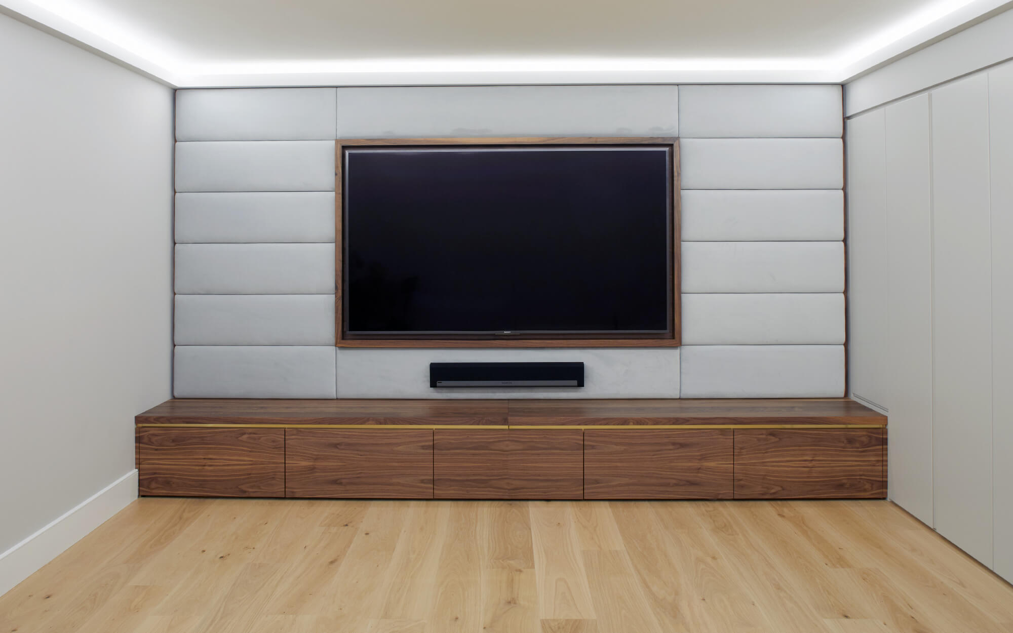 Ultimate cinema room cabinetry by Splinterworks