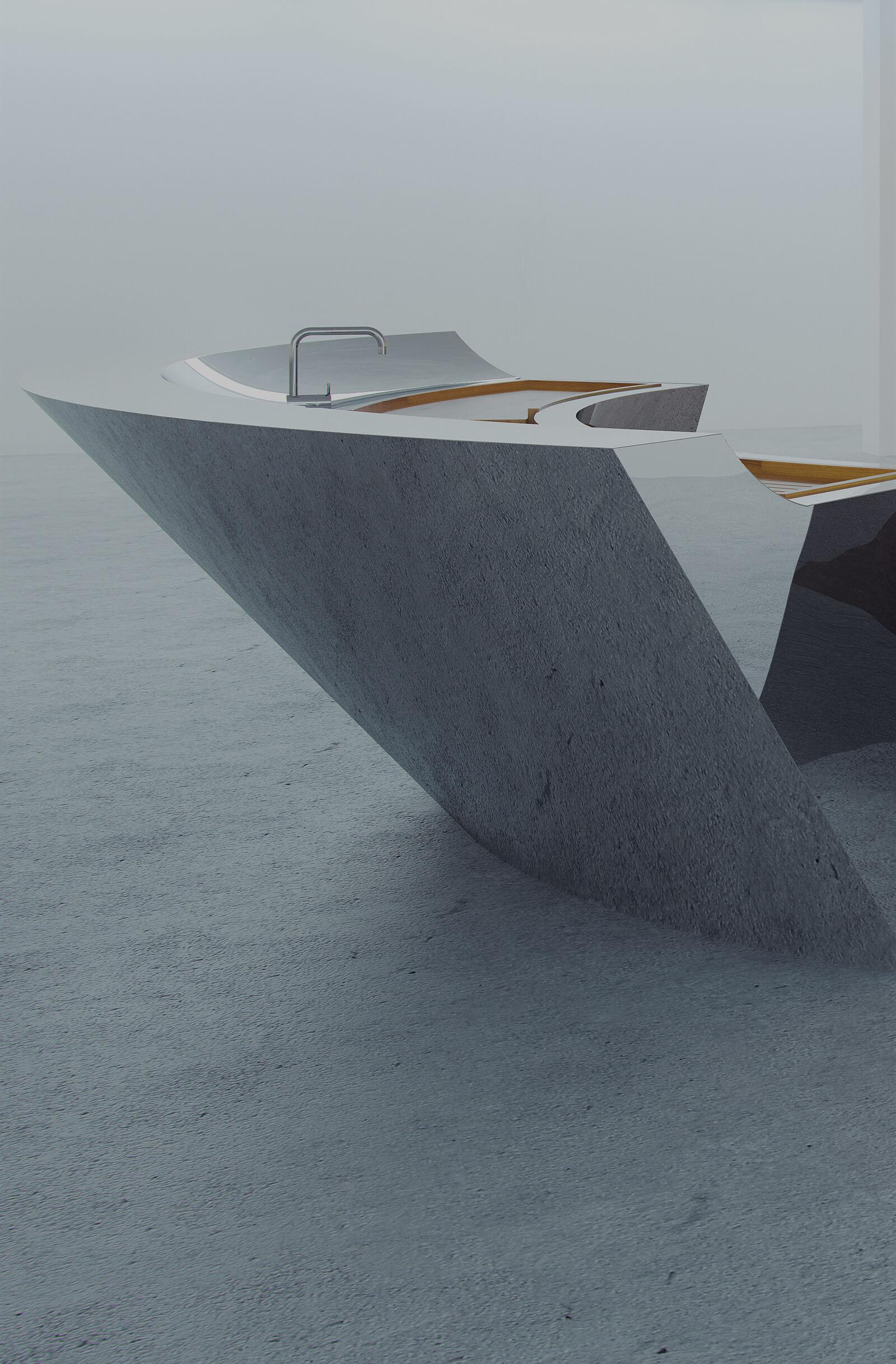 Radical kitchen design in polished steel by Splinterworks