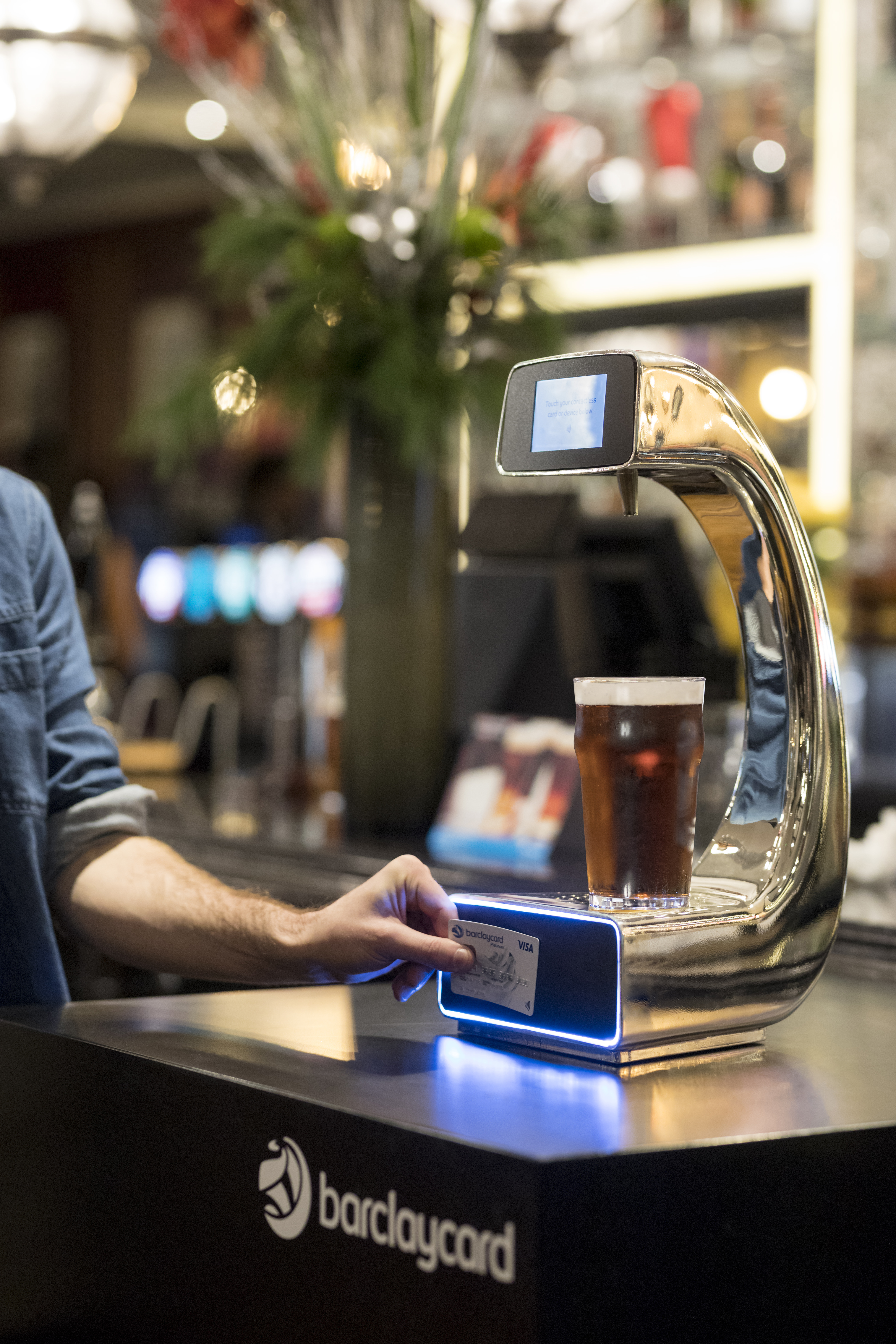 Contactless payment beer pump is a bespoke commission by Splinterworks