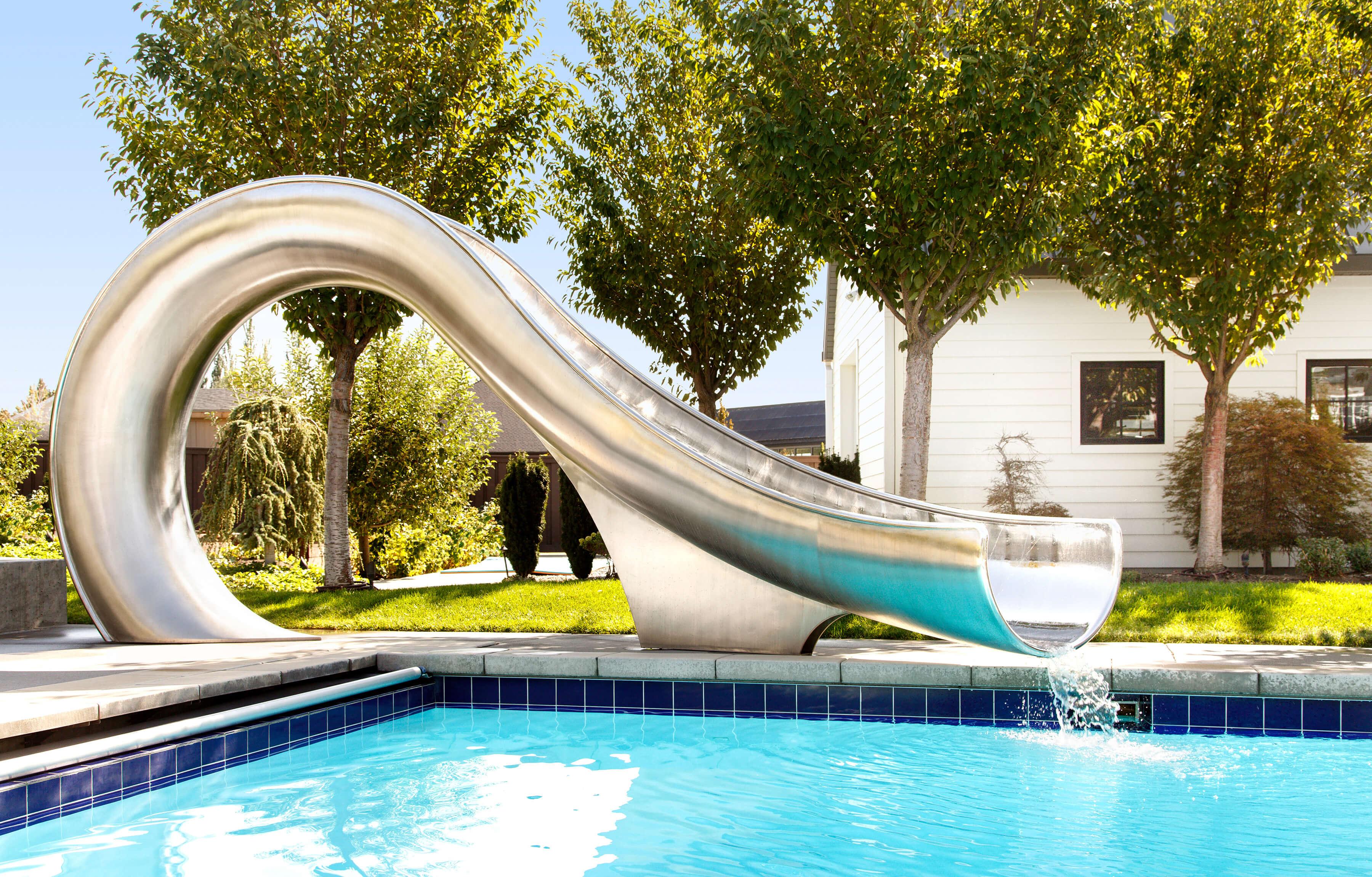 Slides residential water swimming pool Waterslides