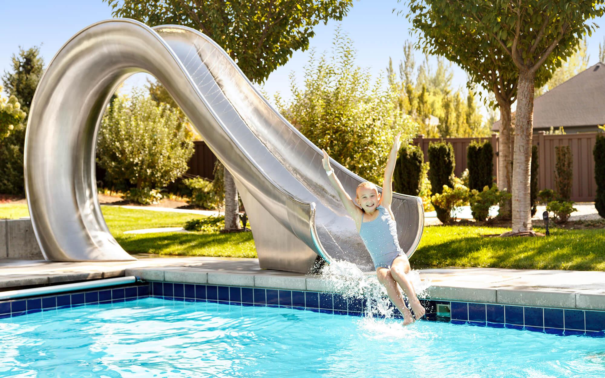 Easy Install Residential Pool Slide Waha By Splinterworks