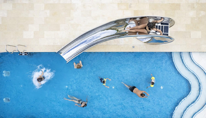 Ariel image of Waha pool slide at Gara Rock